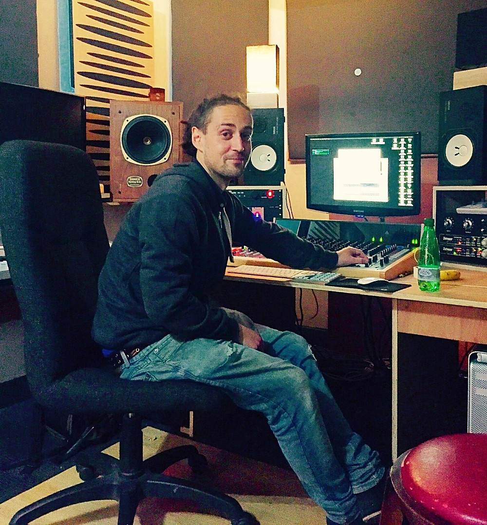In his studio, Old Paradise Audio
