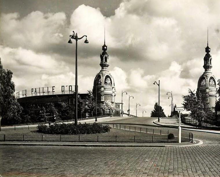 1950 - les 2 tours Lefevre-Utile et le pont de la Rotonde vus au carrefour du cours Kennedy