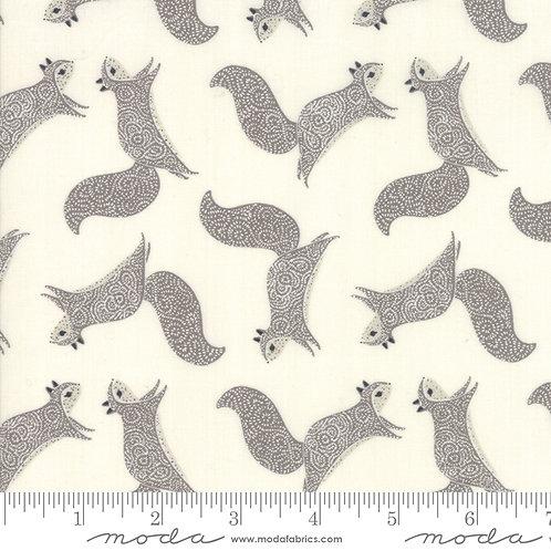 Bramble Squirrel (Cream) - Gingiber (Moda Fabrics)