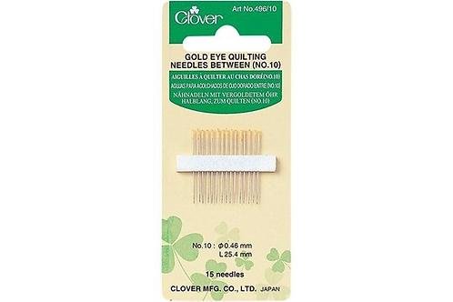Clover Gold Eye Quilting Needles Betweens No 10