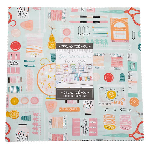 Sew Wonderful Layer cake - Paper & Cloth (Moda Fabrics)