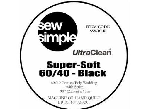 Super-Soft 60/40 Cotton Blend (Black) wadding
