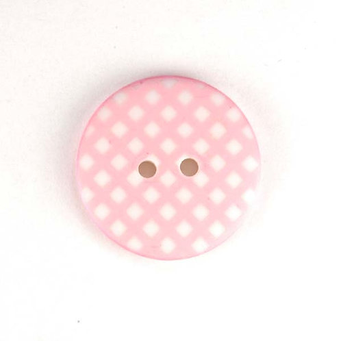 25mm Gingham buttons (Pink) - Sew Together by Riley Blake