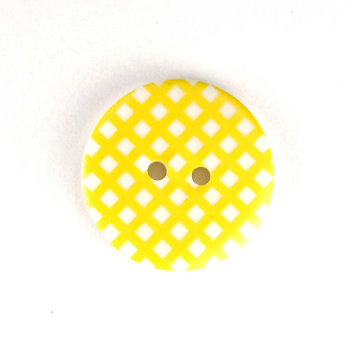 25mm Gingham buttons (Yellow) - Sew Together by Riley Blake
