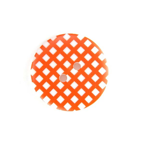 25mm Gingham buttons (Orange) - Sew Together by Riley Blake
