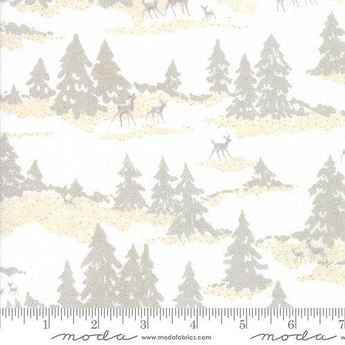 Forest Frost Glitter (Deer forest) - Moda Fabrics