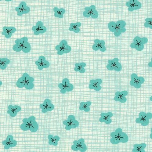 Bluebird Park: Little blossoms (Teal) - Kate & Birdie (Moda Fabrics