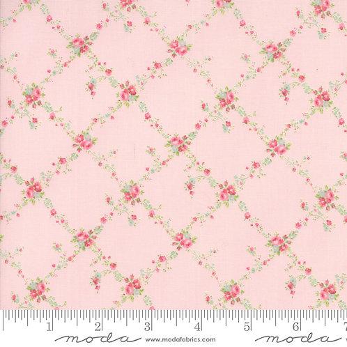 Caroline: Floral trellis (Bloom pink) - Brenda Riddle