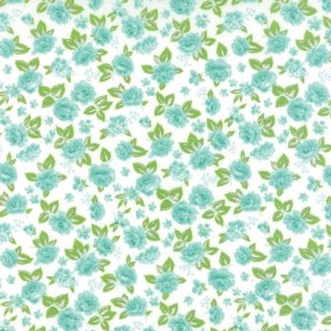Sew & Sew: Aqua blooms -Chloe's closet