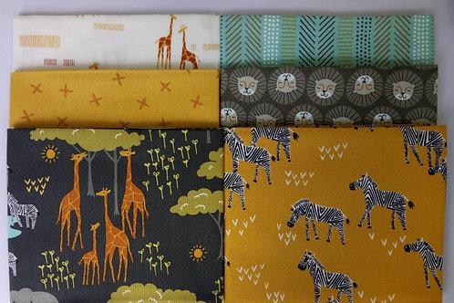 Safari Life FQ bundle (Black  / Mustard / Cream / Aqua)