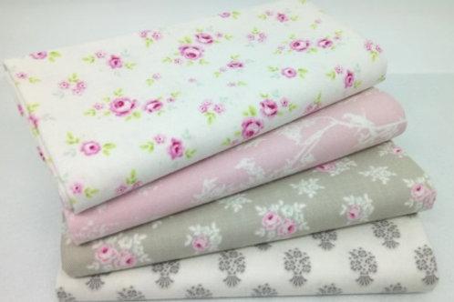 Tilda Winter memories (Cream/pink/taupe) Fat Quarter bundle