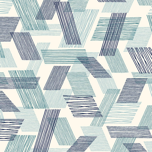 Double Gauze - Warp and Weft Teal: Threads by Eloise Renouf / Cloud 9 Fabrics