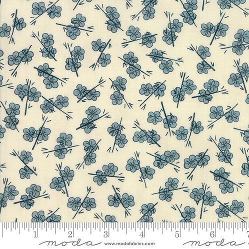 Origami: Plum Blossom (Teal) - Janet Clare (Moda Fabrics)