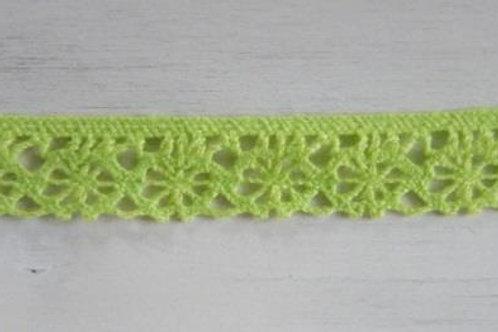 Cotton lace (lime) - Stephanoise