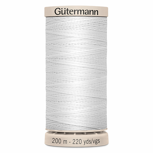 Gutermann Quilting thread 200m - white col. 5709 (for Hand quilting)