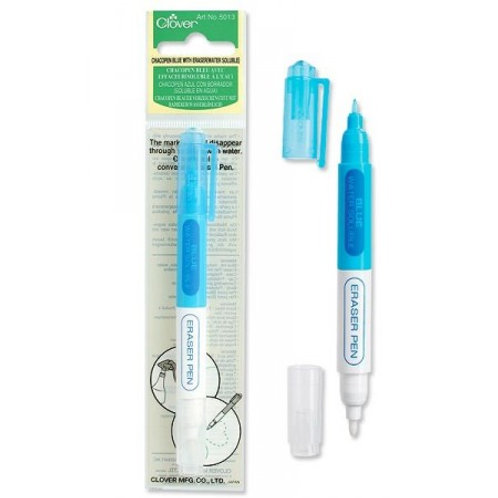 Clover Chacopen blue with eraser (water erasable)