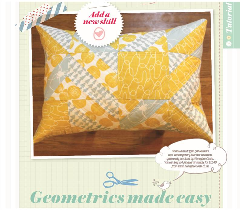 Pretty Patches - Geo Pillow