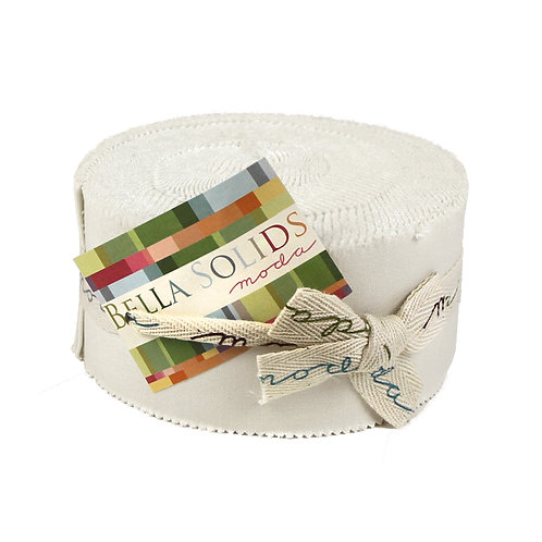Jelly roll: white - Moda Bella Solids