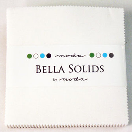 Moda Bella Solids: Charm pack -White