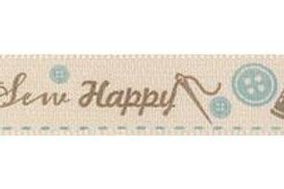 Sew Happy ribbon - 15mm