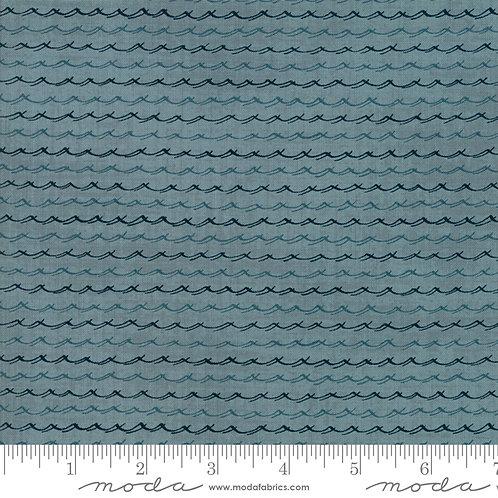 Ahoy Me Hearties: Wavelets (aqua) - Janet Clare