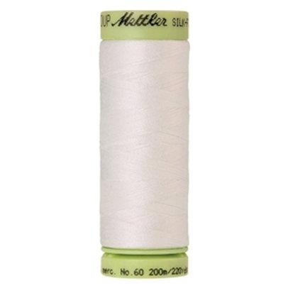 Mettler Silk Finish cotton 60wt 200m - col. 3000 White