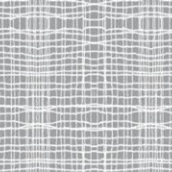 InPrint: Stitch check - Slate (Light Grey) - Jane Makower Fabrics