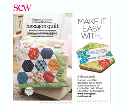 Hexagon Quilt using Honeycomb from Honeybee Cloths