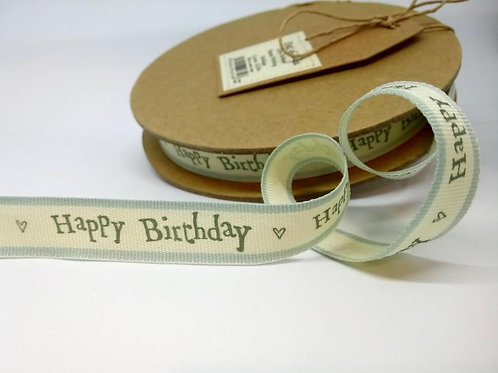 Happy birthday ribbon 15mm - East of India