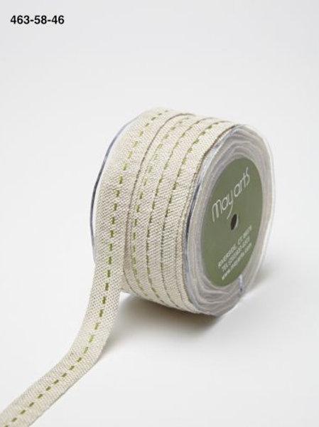 Burlap centre stitch (Lime)