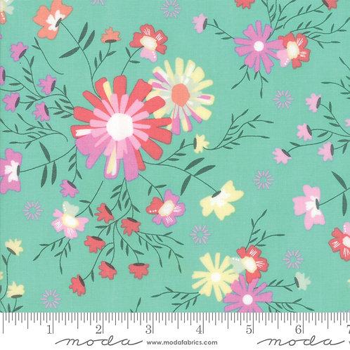 Sunnyside Up - Floral (Turquoize)- Corey Yoder (Moda Fabrics)