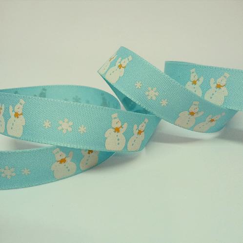 Natural charms 15mm ribbon: Snowmen - Berisfords