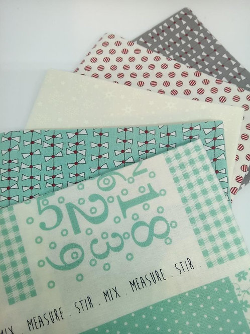 Cookie Exchange 5 FQ (Aqua) bundle - Sweetwater (Moda Fabrics)