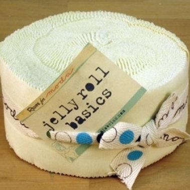 Jelly roll: Snow - Moda Bella Solids
