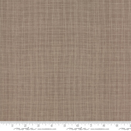 Return to Winters Lane (Taupe) - Linen effect print