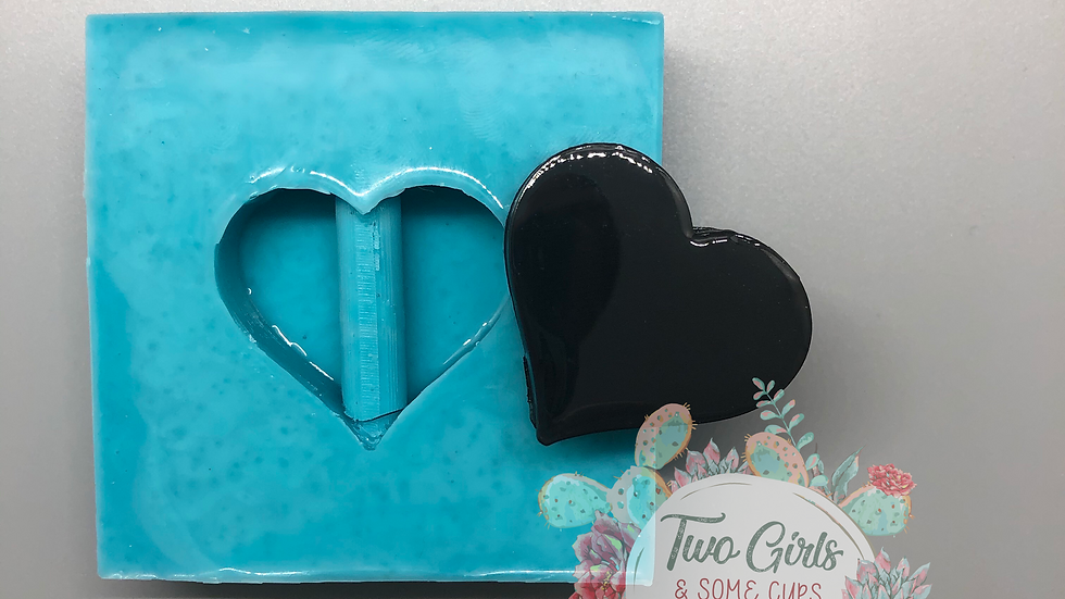 Heart Straw Topper Mold