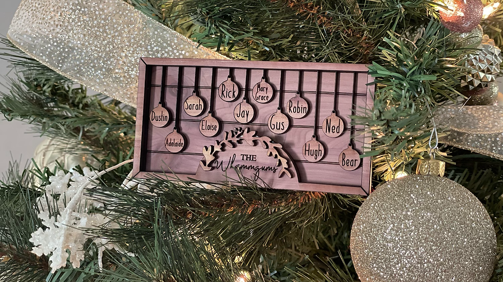 Family tree Ornament (up to 15 members)