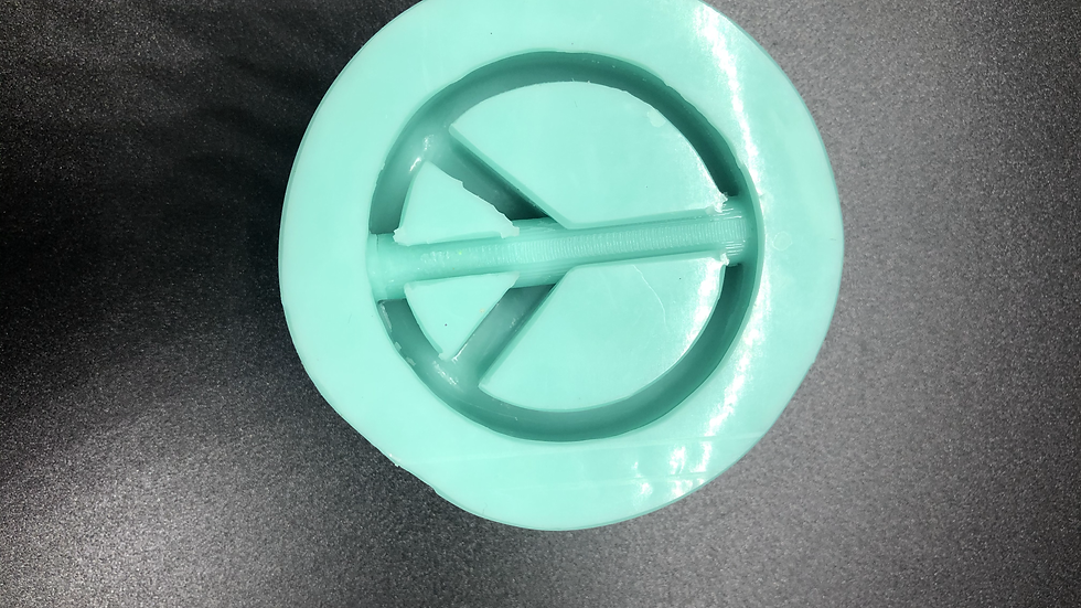 Peace sign straw topper