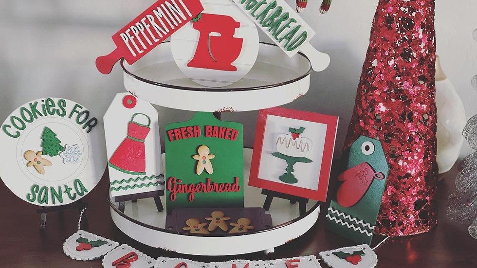 Santa's Bakery Tiered Tray Set