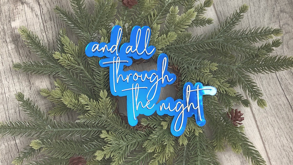 12 inch Wreath: And all through the night
