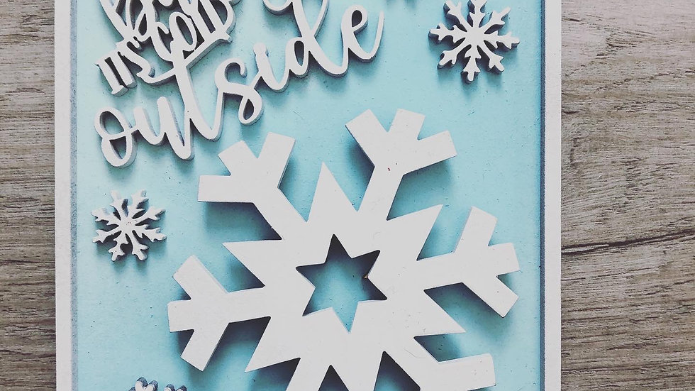 Snow Tiered Try decor