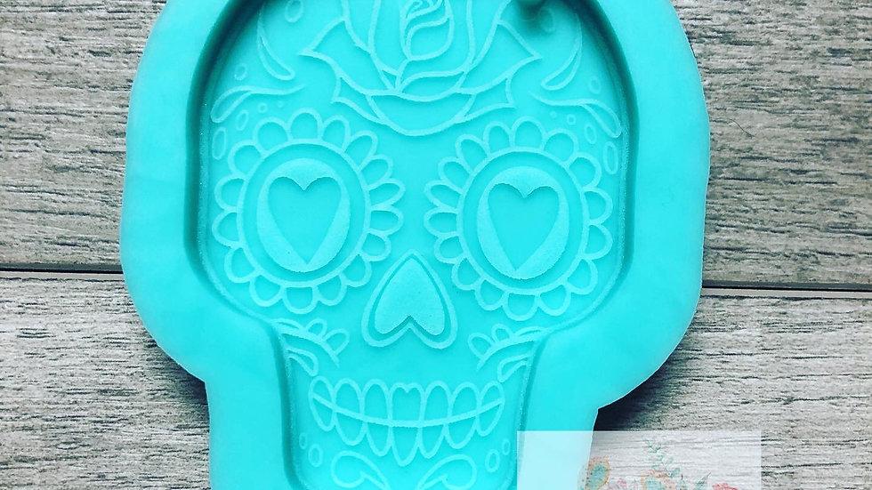 Sugar Skull Keychain mold