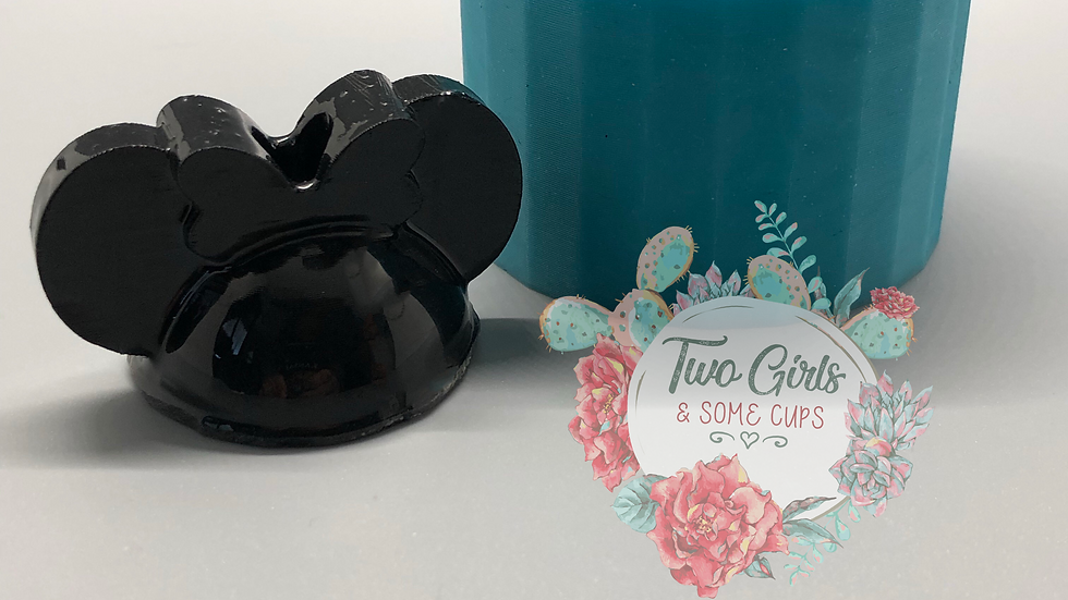 Girl Mouse Straw Topper Mold