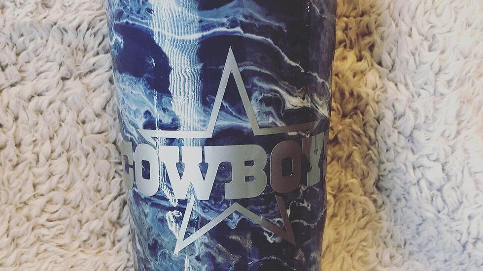 32 oz Dallas Cowboys Marble Tumbler