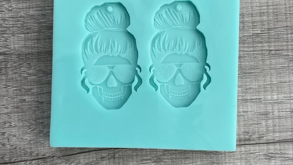 Mom Skull Earring Set