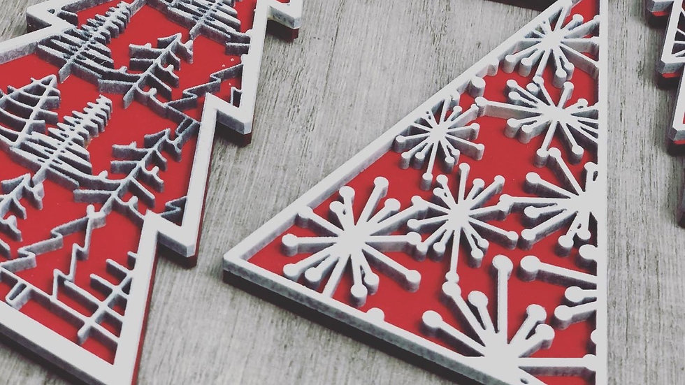 Handmade Ornaments (set of 8) Classic Red