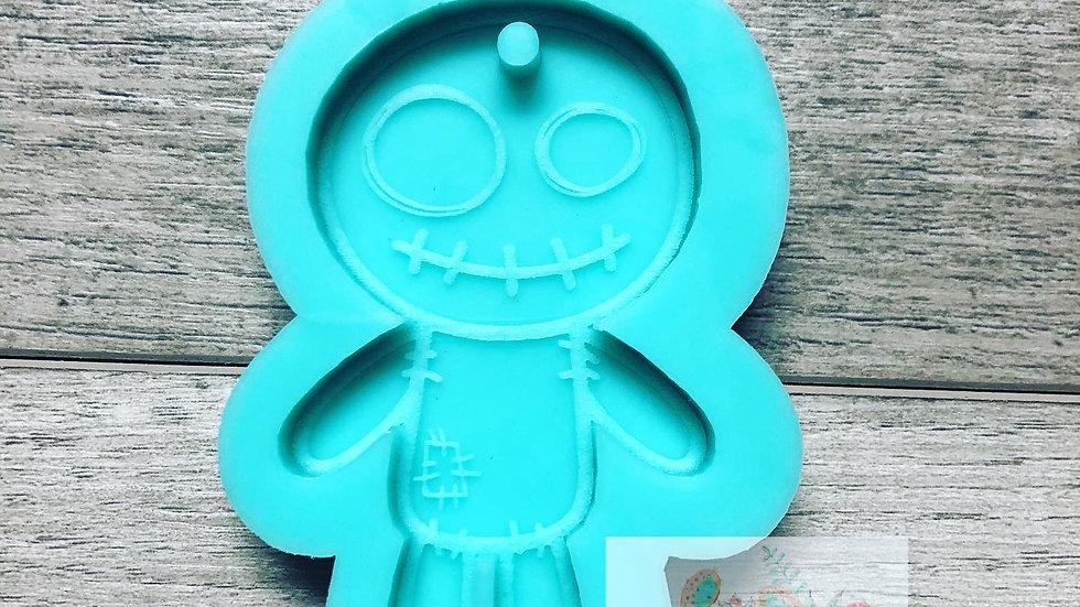 Cute Voodoo Doll Keychain Mold