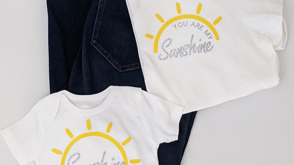 Sunshine Mommy and Me Shirt Set