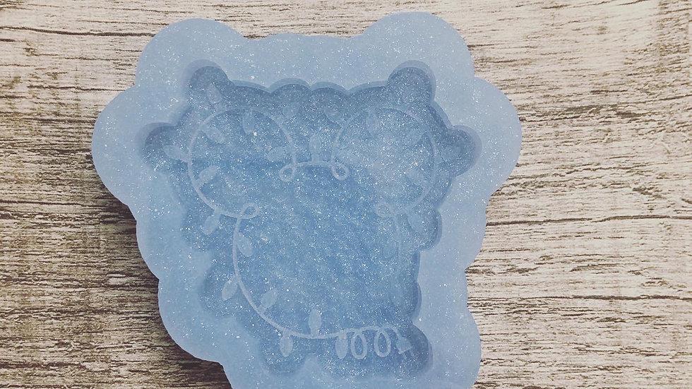 Mickey Christmas Lights popsocket/badge reel mold