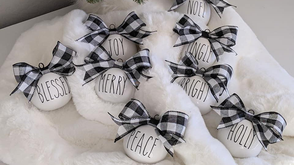 Rae Dunn Inspired Farmhouse Ornaments